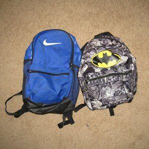 Book Bag School Nike Batman Bundle Black White Kid